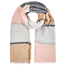 Buy Oasis Wide Stripe Scarf, Multi Online at johnlewis.com
