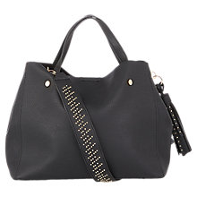 Buy Oasis Harper Strap Detail Tote Bag, Black Online at johnlewis.com