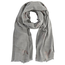 Buy Mint Velvet Foiled Bird Blanket Scarf, Grey/Silver Online at johnlewis.com