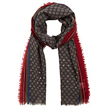 Buy Gerard Darel Electra Wool Silk Blend Scarf, Brown/Multi Online at johnlewis.com