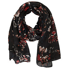 Buy Betty Barclay Floral Print Scarf, Black/Multi Online at johnlewis.com
