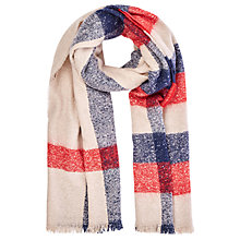 Buy Oasis Woven Check Scarf, Multi Online at johnlewis.com