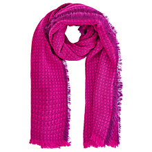Buy Oasis Milan Textured Scarf, Mid Pink Online at johnlewis.com
