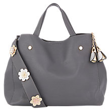 Buy Oasis Harper Strap Detail Tote, Mid Grey/Multi Online at johnlewis.com
