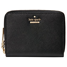 Buy kate spade new york Cameron Street Lainie Leather Zip Around Purse, Black Online at johnlewis.com