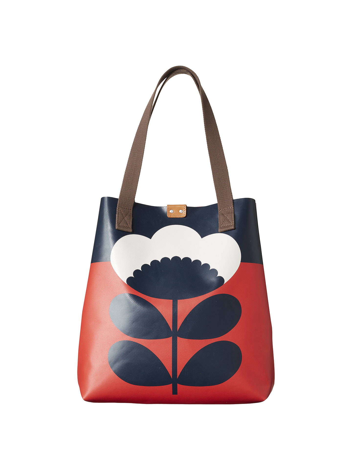 Orla Kiely Spring Bloom Tote Bag Red Online At Johnlewis