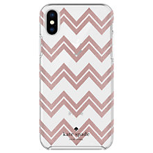 Buy kate spade new york Chevron Pattern Hard Case for iPhone X, Rose Online at johnlewis.com