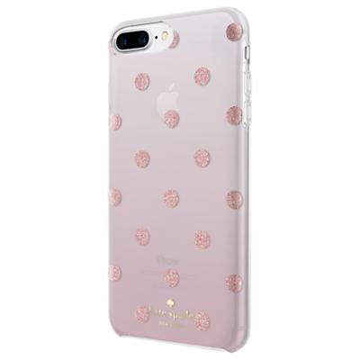 Image of kate spade new york Ombre Dot Case for iPhone 7 Plus and iPhone 8 Plus, Clear/Glitter Pink