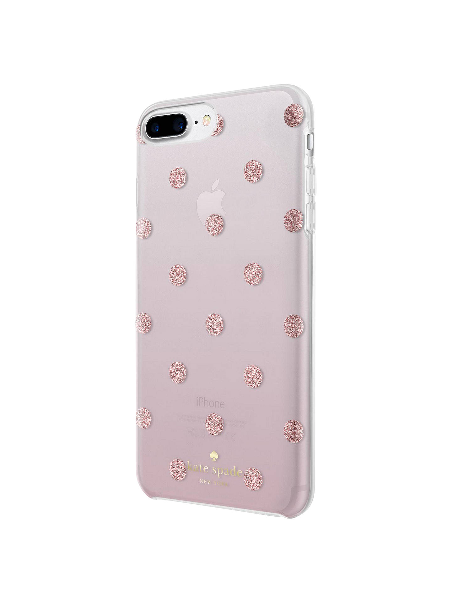 premium selection ab0ea c7d65 kate spade new york Ombre Dot Case for iPhone 7 Plus and iPhone 8 Plus,  Clear/Glitter Pink