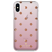 Buy kate spade new york Ombre Dot Hard Case for iPhone X, Clear/Glitter Pink Online at johnlewis.com
