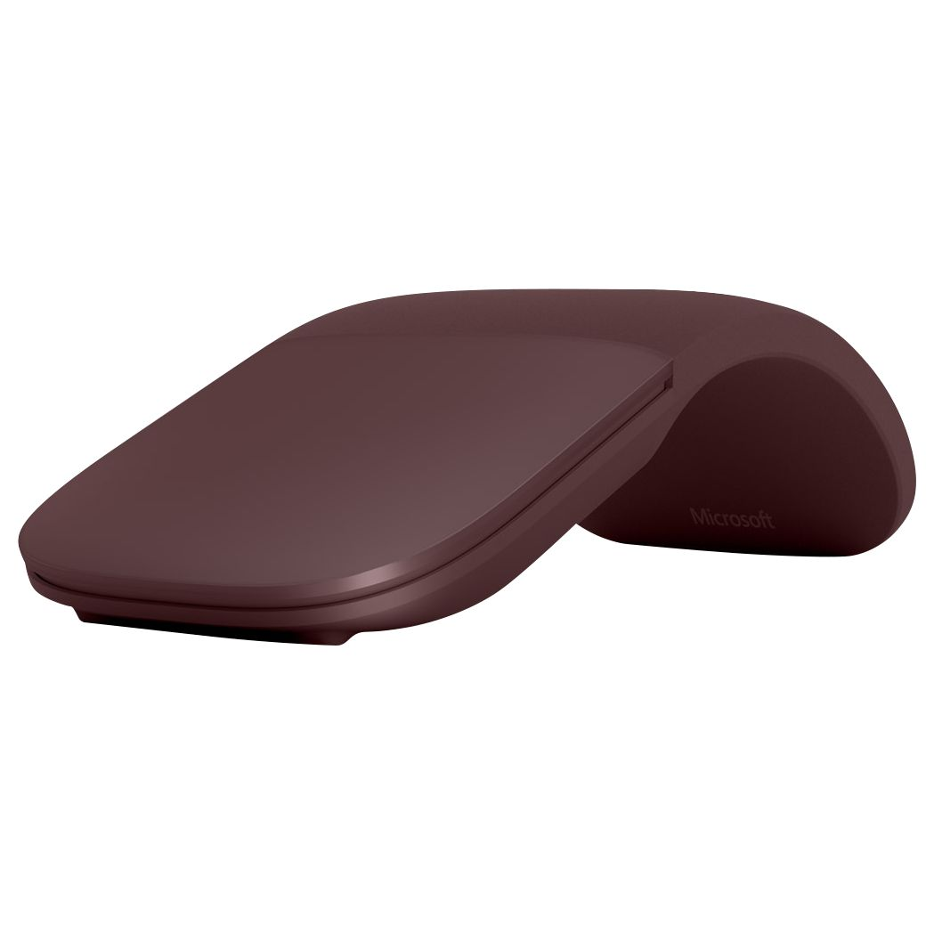 Microsoft Surface Arc Bluetooth Wireless Mouse, Burgundy