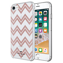 Buy kate spade new york Chevron Pattern Hard Case for iPhone 7 and iPhone 8, Rose Online at johnlewis.com