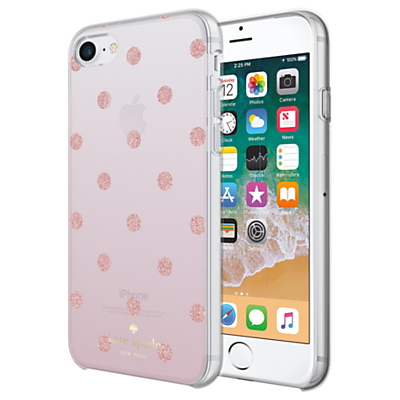 Image of kate spade new york Ombre Dot Case for iPhone 7 and iPhone 8, Clear/Glitter Pink