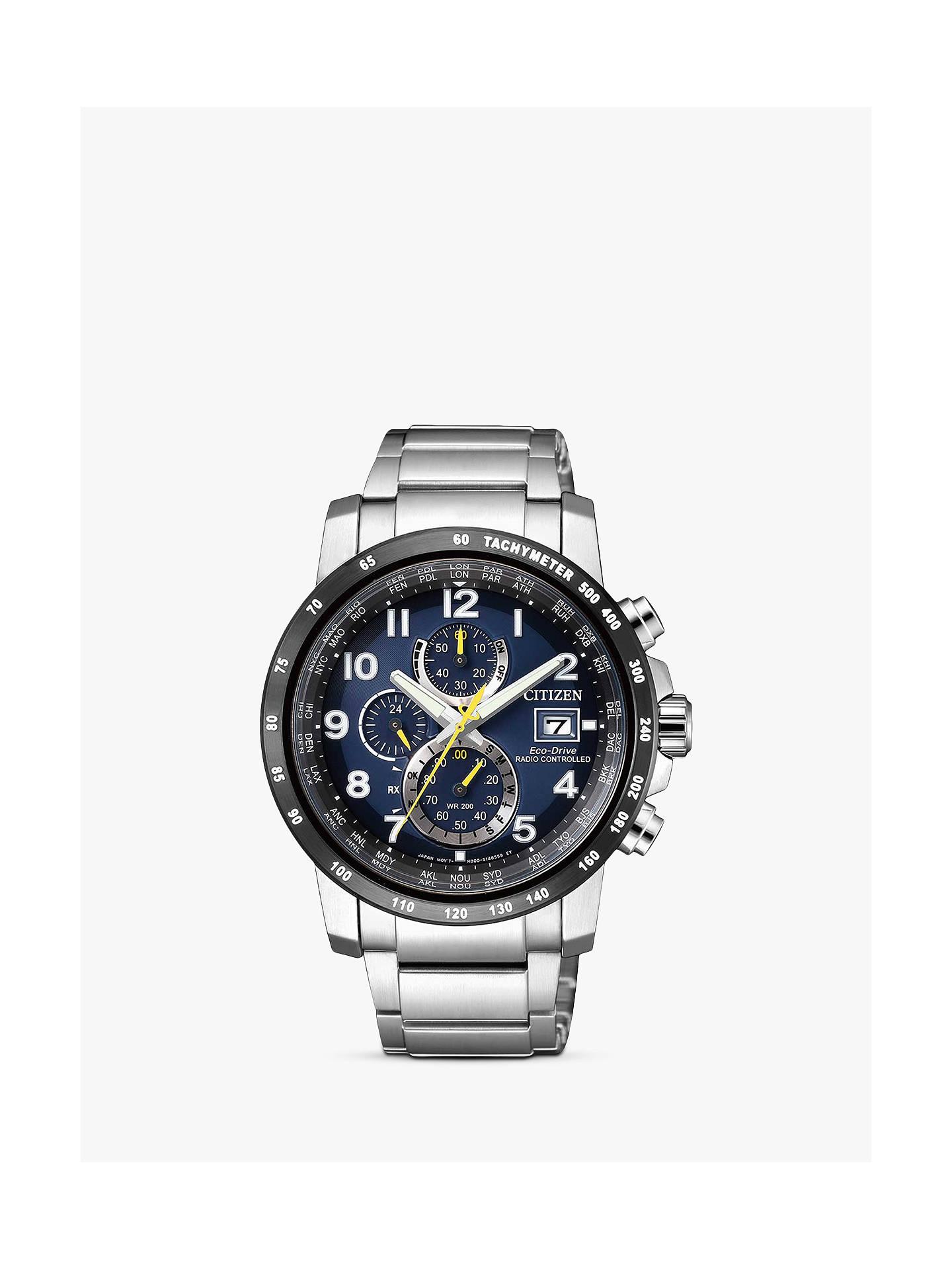 904bfbce72a Buy Citizen AT8124-91L Men s Chronograph Tachymeter Date Eco-Drive Bracelet  Strap Watch