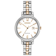 Buy Citizen Eco-Drive Bracelet Strap Women's Watch, Gold Online at johnlewis.com