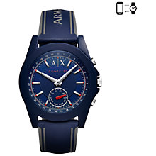 Buy Armani Exchange Connected Men's Hybrid Silicone Strap Smartwatch Online at johnlewis.com