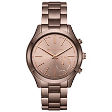 Buy Michael Kors Access MKT4019 Women's Slim Runway Bracelet Strap Hybrid Smartwatch, Sable Online at johnlewis.com