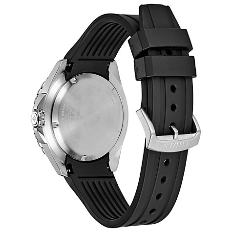 Buy Citizen BN0190-07E Men's Diver's Date Rubber Strap Watch, Black Online at johnlewis.com