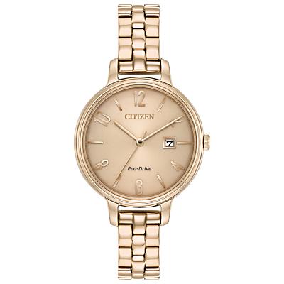 Citizen EW2443-55X Women's Eco-Drive Bracelet Strap Watch, Gold