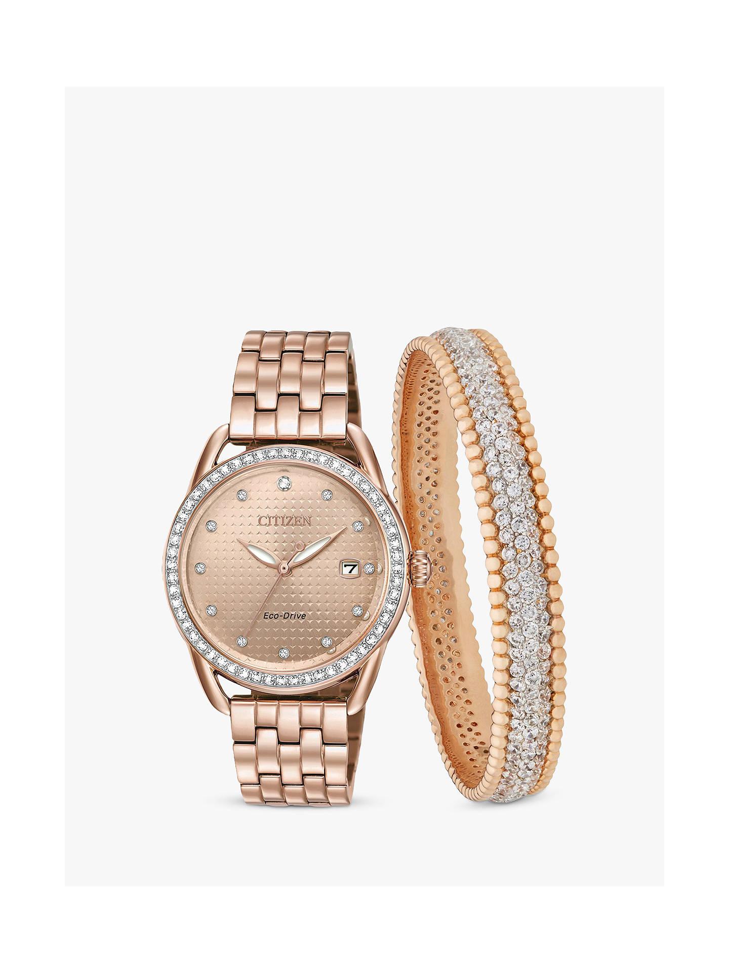 be69ab932f140 Buy Citizen FE6113-57X SET Women s Eco-Drive Swarovski Crystal Date  Bracelet Strap Watch ...