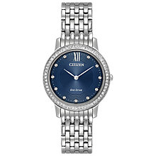 Buy Citizen Women's Silhouette Swarovski Crystal Eco-Drive Bracelet Strap Watch Online at johnlewis.com