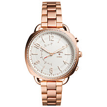 Buy Fossil Q FTW1208 Women's Accomplice Bracelet Strap Hybrid Smartwatch, Rose Gold/White Online at johnlewis.com