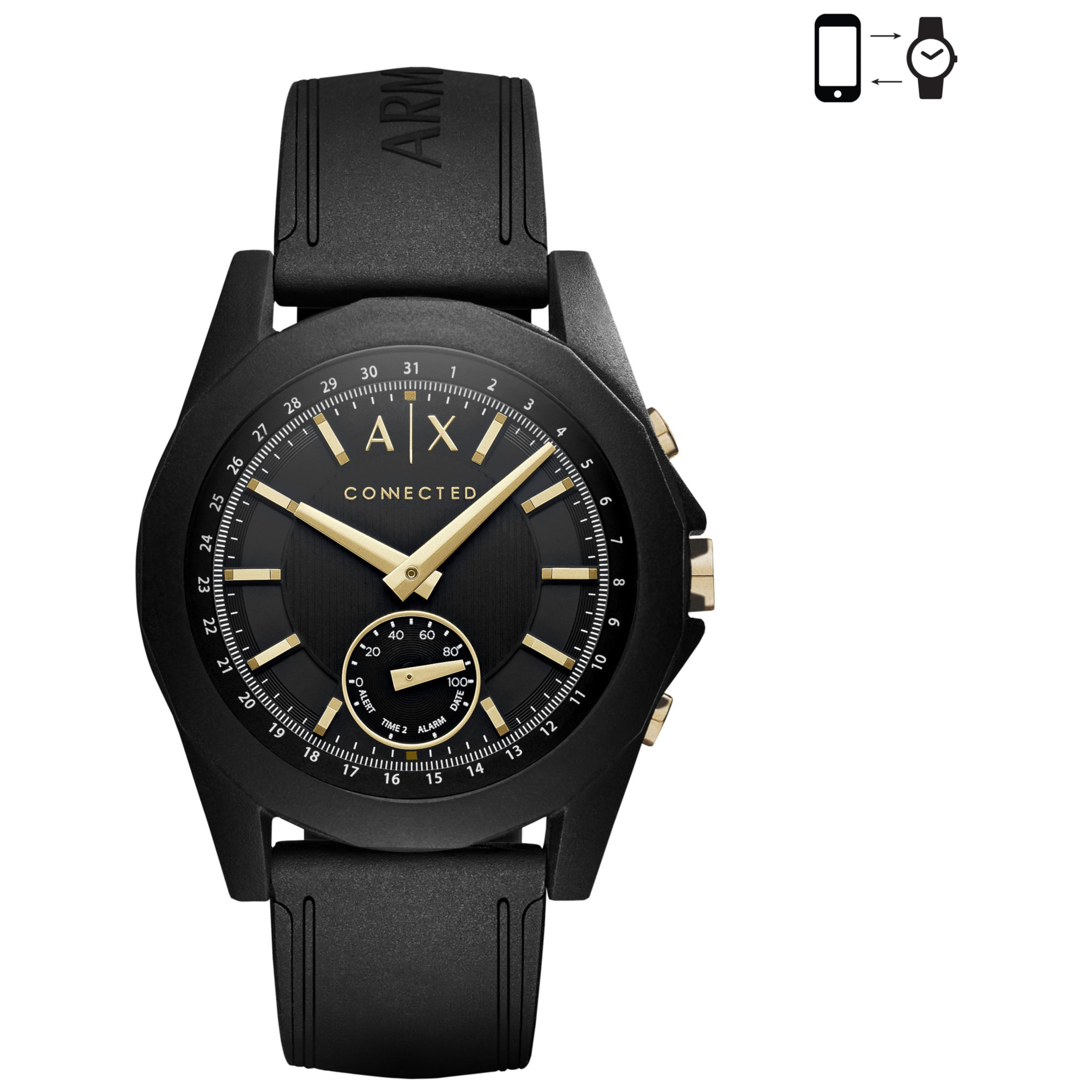 Armani Exchange Armani Exchange Connected Men's Hybrid Silicone Strap Smartwatch