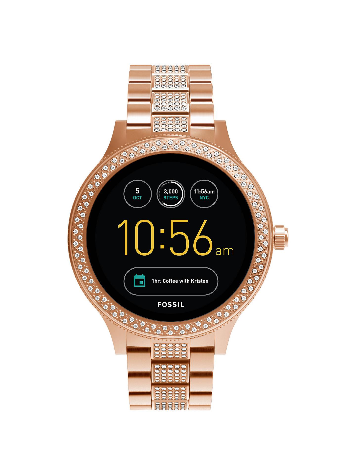 cb0b815e9 Buy Fossil Q FTW6008 Women s Venture Bracelet Strap Touchscreen Smartwatch