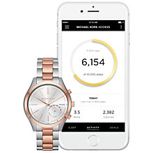Buy Michael Kors Access MKT4018 Women's Slim Runway Bracelet Strap Hybrid Smartwatch, Rose Gold/Silver Online at johnlewis.com