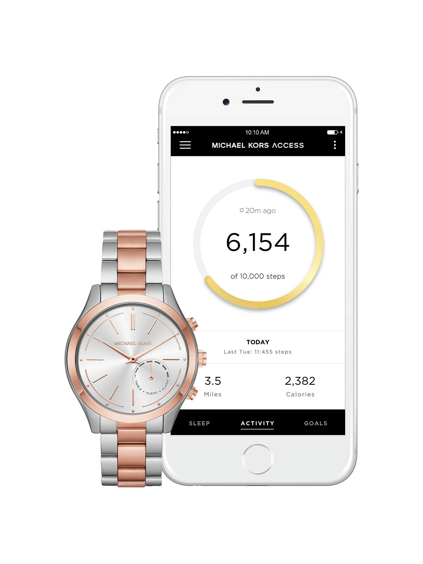 29dce35ee912 Buy Michael Kors Access MKT4018 Women s Slim Runway Bracelet Strap Hybrid  Smartwatch