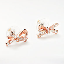 Buy kate spade new york Cubic Zirconia Pave Bow Stud Earrings, Rose Gold Online at johnlewis.com