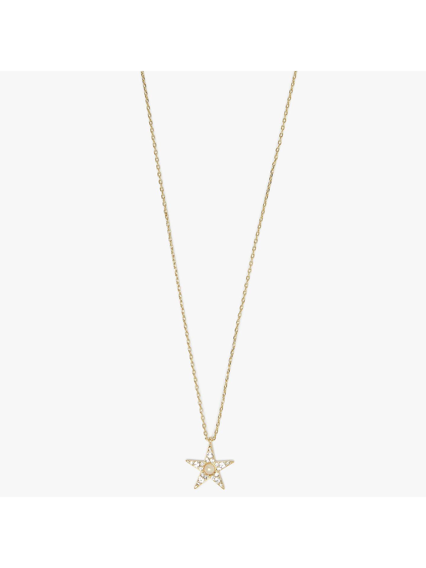 Kate Spade New York Pave Star Pendant Necklace Rose Gold At John