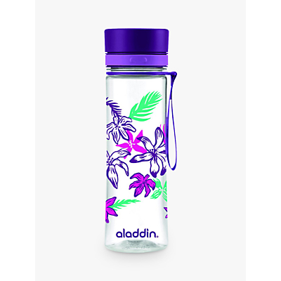 Aladdin Aveo Floral Print Water Bottle, 600ml, Purple