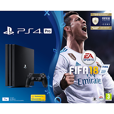 Image of Playstation 4 Pro 1Tb Fifa 18 Console, 365 Psn Subscription And Extra Dualshock Controller - Ps4 Pro 1Tb Fifa 18 Console And 365 Psn Subscription
