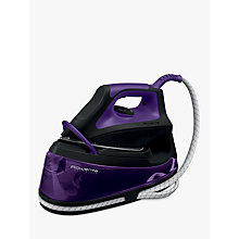 Buy Rowenta VR7045 Easy Steam Generator Iron, Black/Purple Online at johnlewis.com