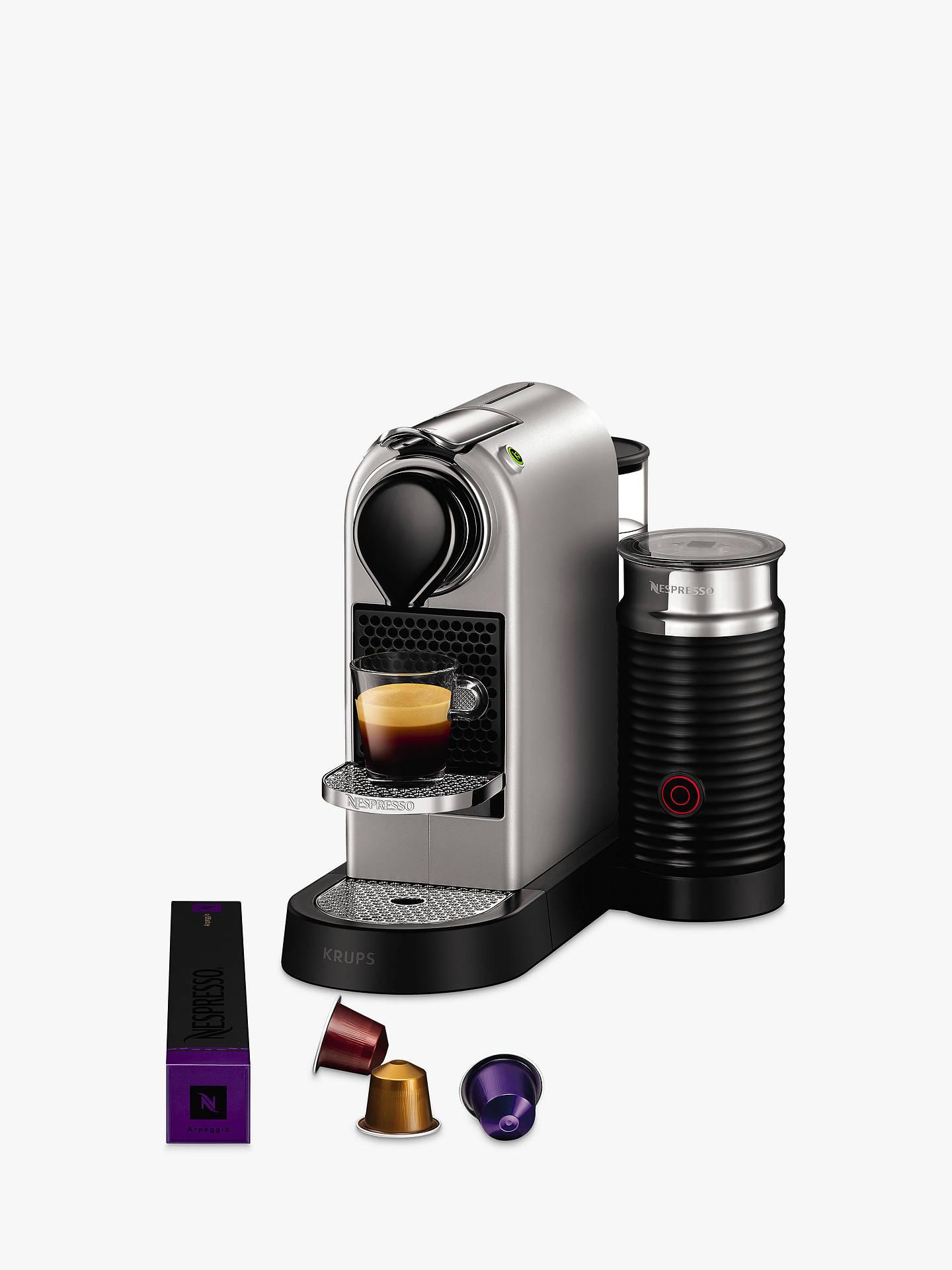 Nespresso Citiz Milk Coffee Machine By Krups With Milk Frother Silver