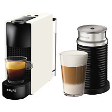 Buy Nespresso Essenza Mini Intense Coffee Machine by KRUPS with Aeroccino Milk Frother Online at johnlewis.com
