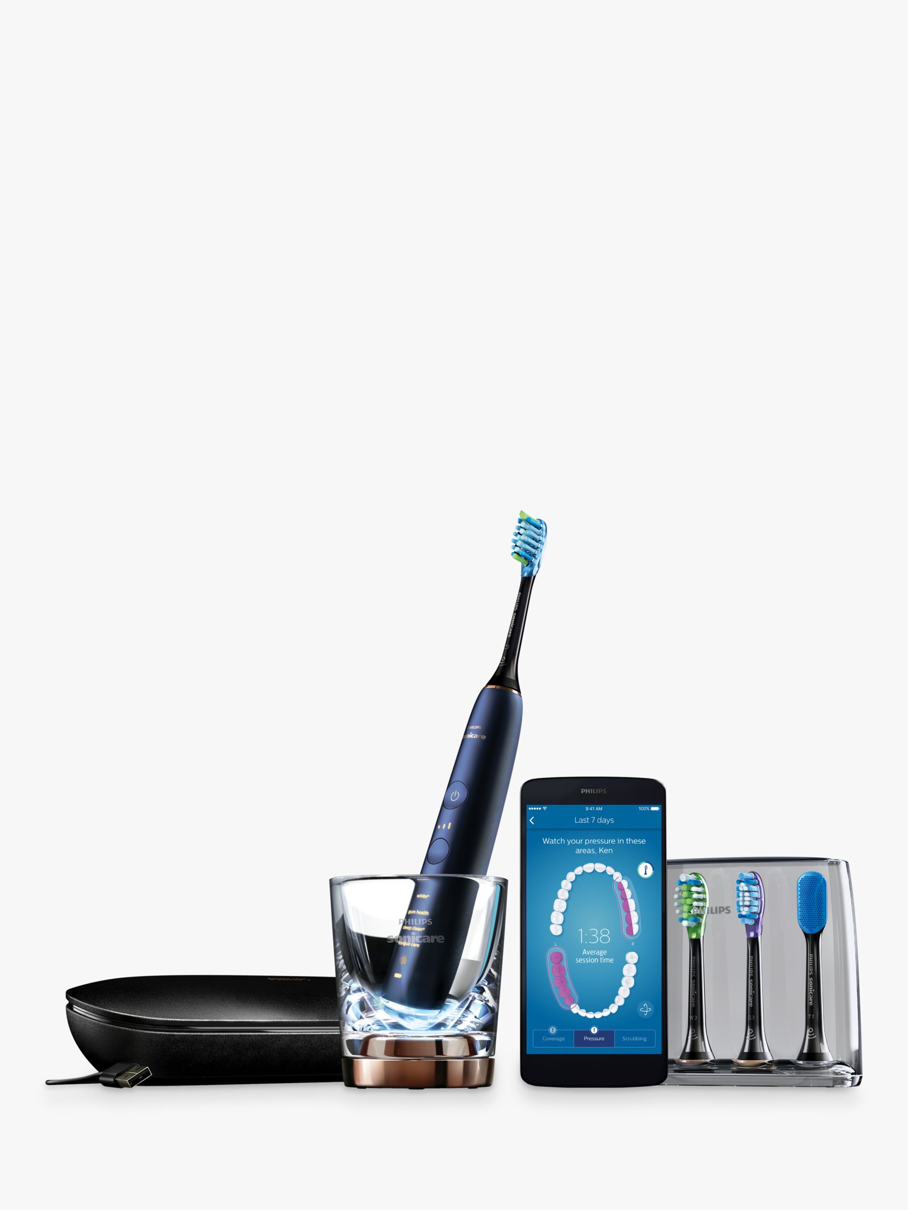 Philips Philips HX9954/53 DiamondClean Smart Sonic Electric Toothbrush with App, Blue