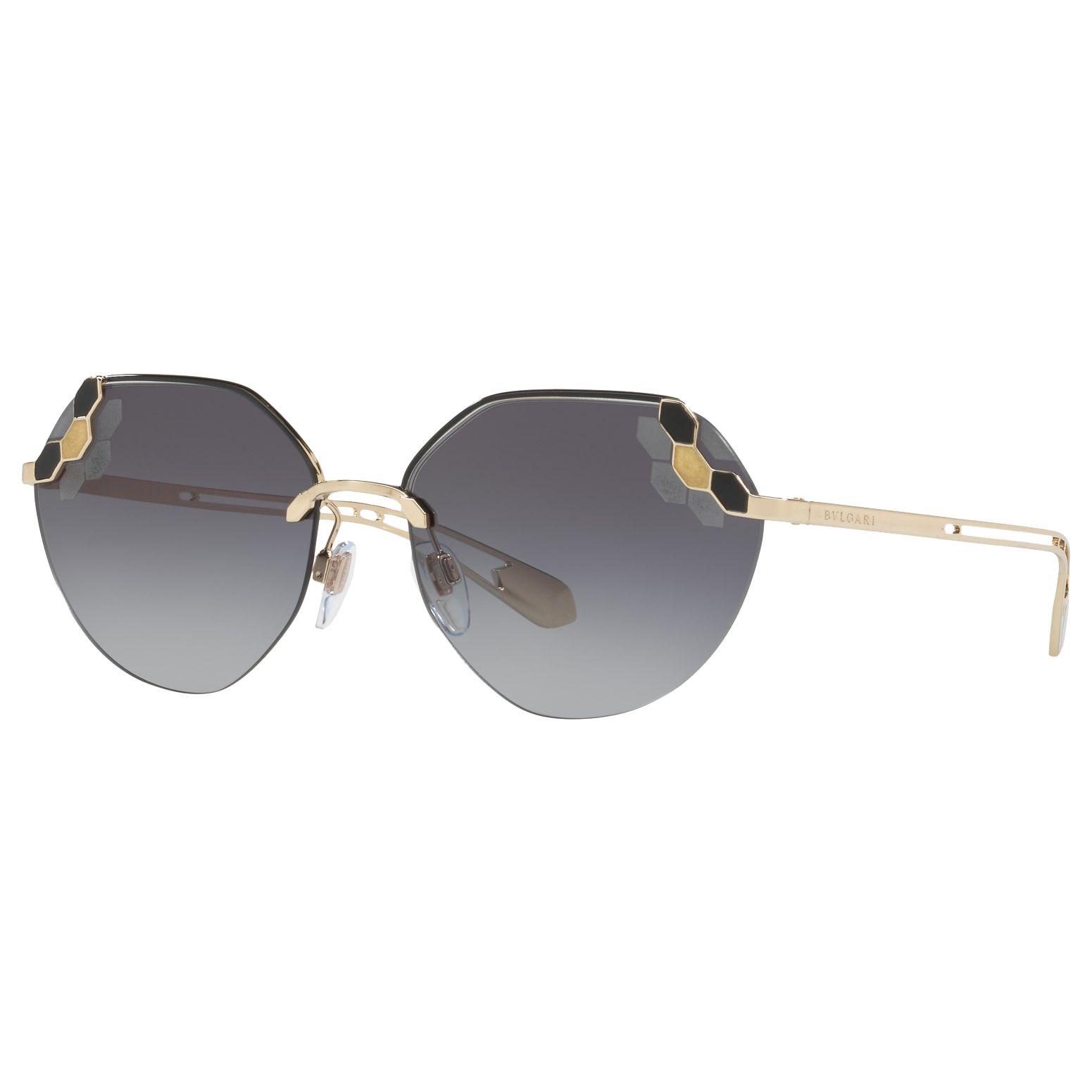 Bvlgari BVLGARI BV6099 Geometric Sunglasses, Gold/Grey Gradient
