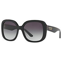 Buy Burberry BE4259 Square Sunglasses, Black/Grey Gradient Online at johnlewis.com