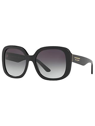 Burberry BE4259 Square Sunglasses, Black/Grey Gradient