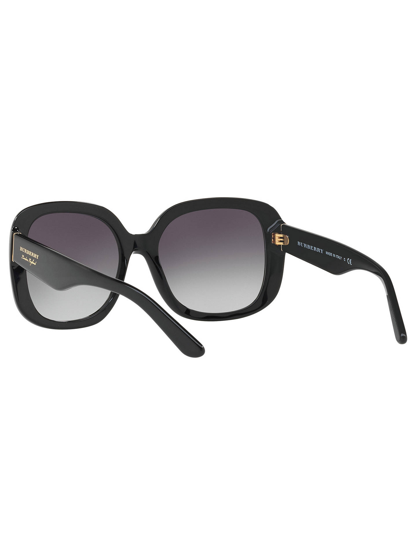 BuyBurberry BE4259 Square Sunglasses, Black/Grey Gradient Online at johnlewis.com
