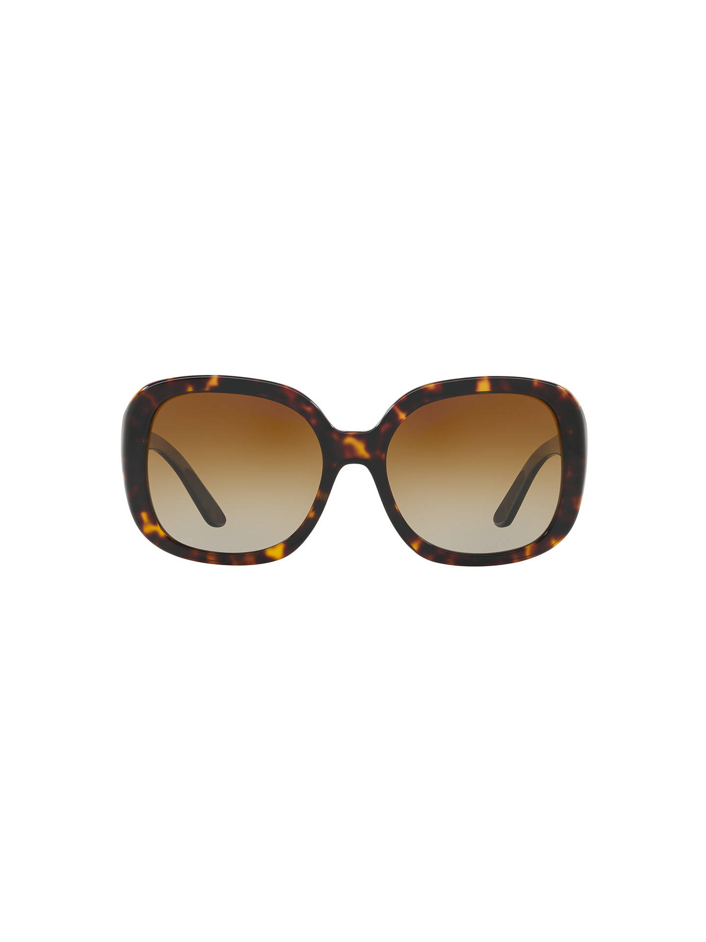 BuyBurberry BE4259 Polarised Square Sunglasses, Tortoise/Brown Gradient Online at johnlewis.com