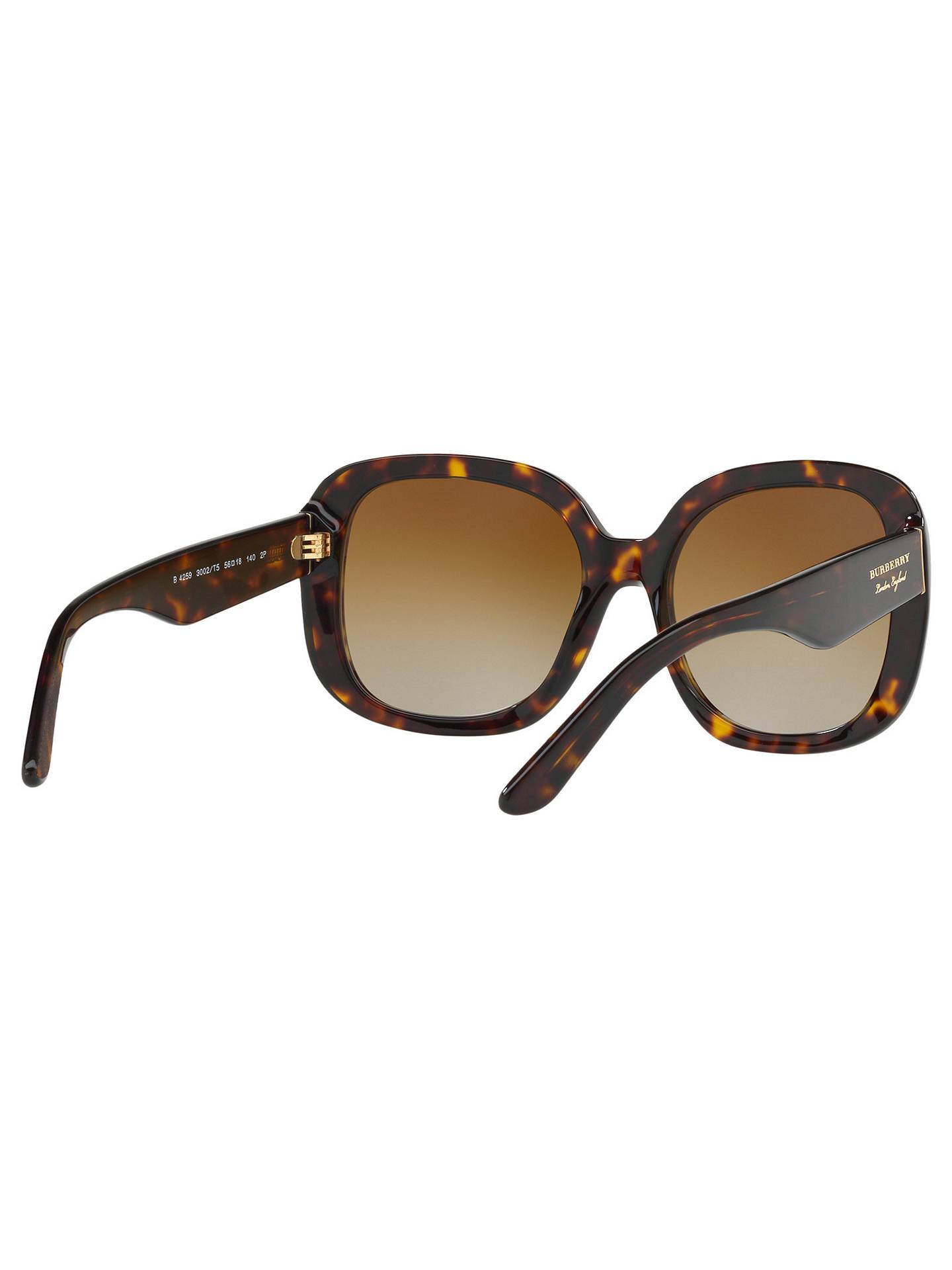 9b1bd12b36d2 ... Buy Burberry BE4259 Polarised Square Sunglasses, Tortoise/Brown  Gradient Online at johnlewis.com ...