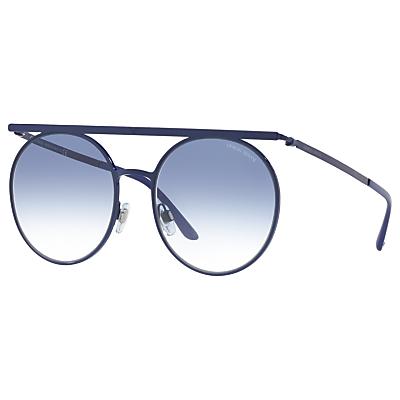 Giorgio Armani AR6069 Round Sunglasses, Navy/Blue Gradient