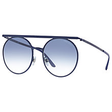 Buy Giorgio Armani AR6069 Round Sunglasses, Navy/Blue Gradient Online at johnlewis.com