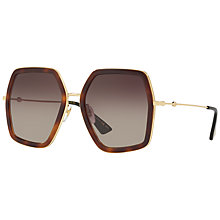 Buy Gucci GG0106S Outsize Square Sunglasses Online at johnlewis.com