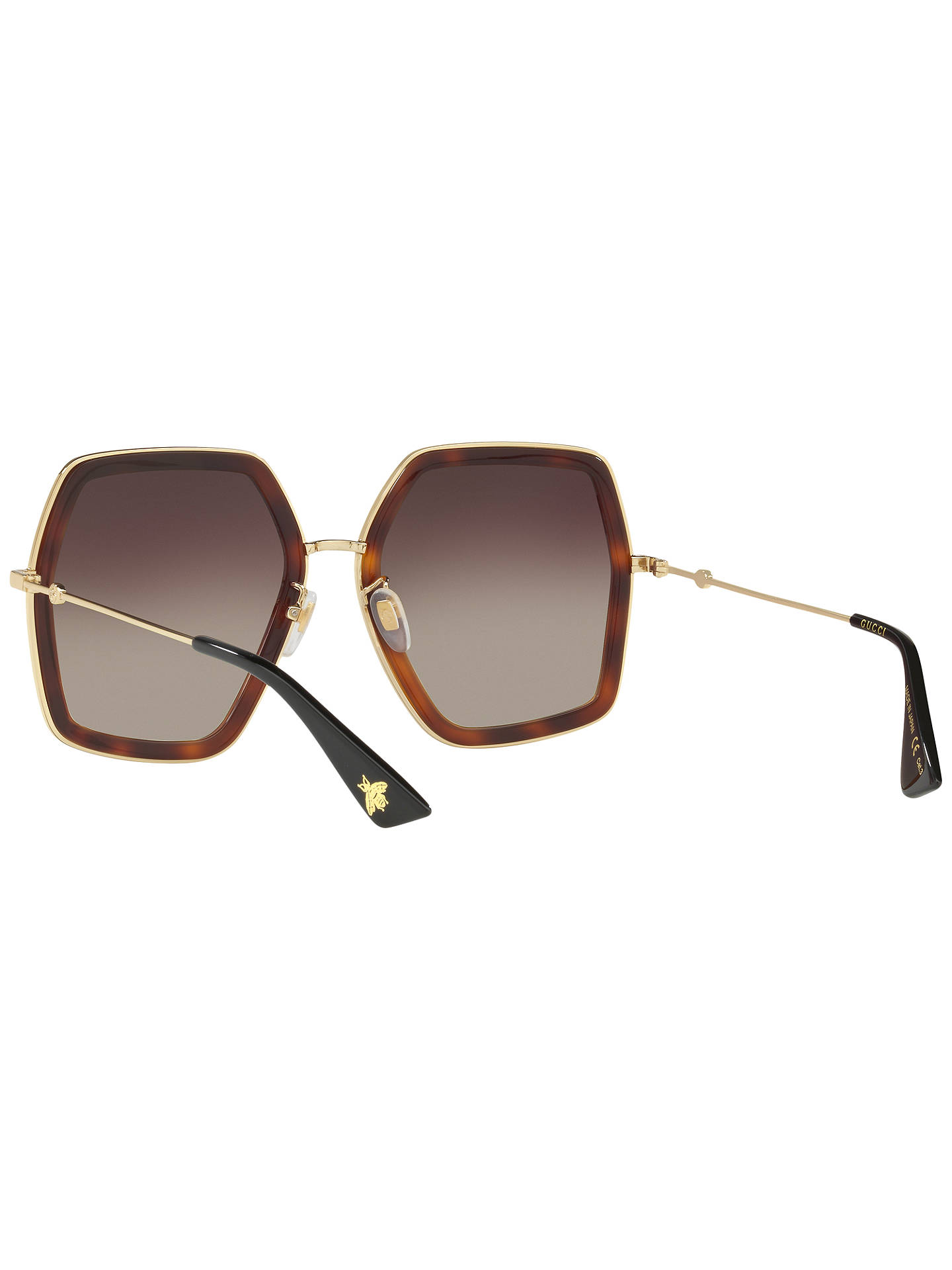 24a04dd7ac19f Gucci GG0106S Outsize Square Sunglasses at John Lewis   Partners