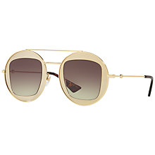 Buy Gucci GG0105S Round Sunglasses Online at johnlewis.com