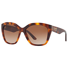 Buy Burberry BE4261 Square Sunglasses, Tortoise/Brown Gradient Online at johnlewis.com